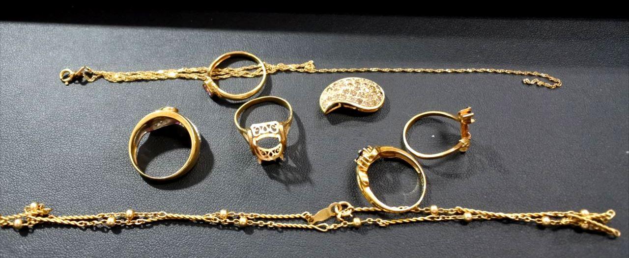 買取 貴金属 18金 切れたネックレス 壊れた指輪 盛岡 まねき堂
