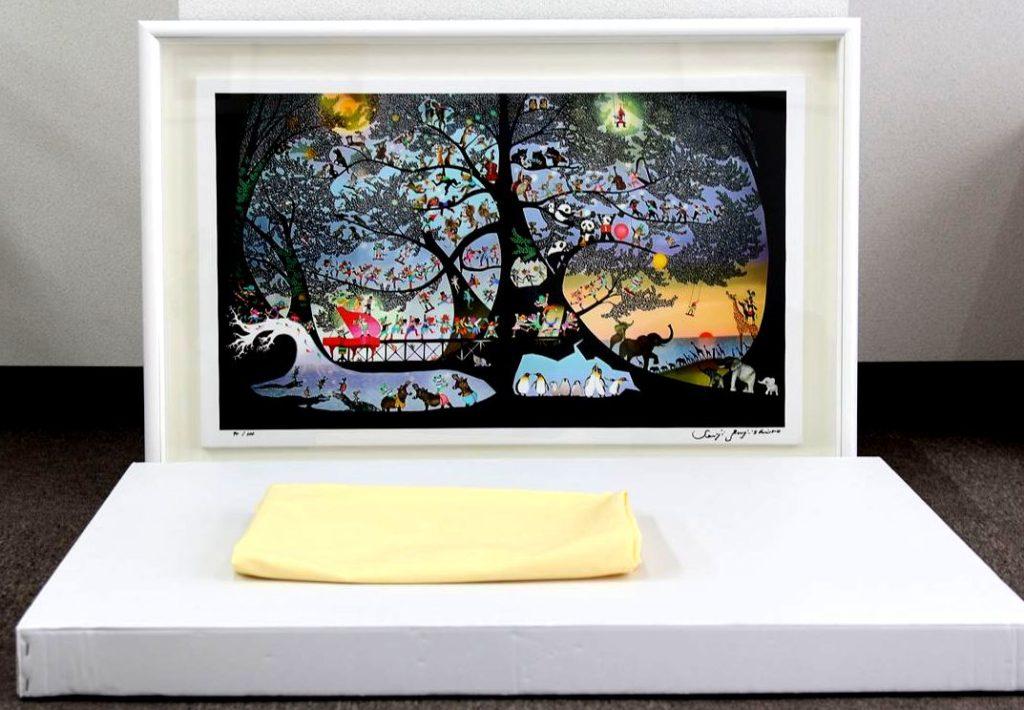絵画 リトグラフ 藤城清治 ケロヨン 買取 盛岡 まねき堂